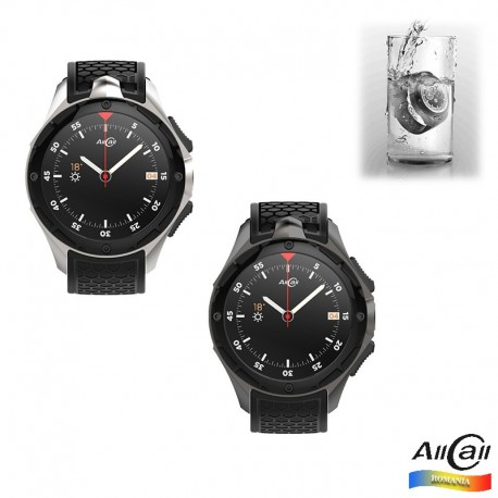 Smartwatch AllCall W2 3G, Waterproof IP68, 2GB RAM 16GB ROM, GPS, AMOLED 1.39, MTK 6580 Quad-core, Wifi, SIM